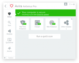 Avira Antivirus Pro 15.0.34.17 Crack With License Key 2018 Free Download